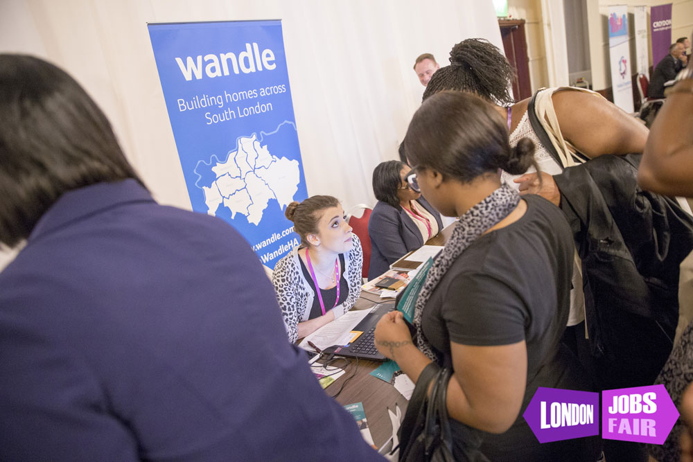 Wandle housing stand at the jobs fair meeting jobseekers