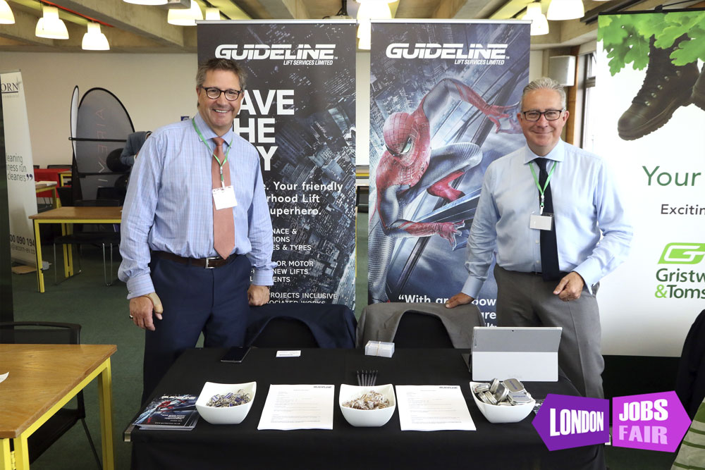 Guideline stand at london jobs fair